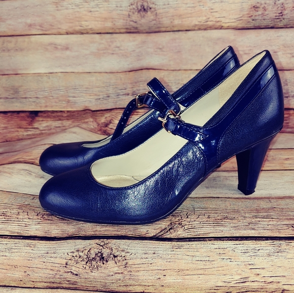 Navy Blue Mary Janes Size 4